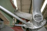 Close-up of the flap jack/pivot for the port flap on HJ711 from outboard