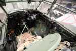 Another view of the cockpit from immediately above the pilot's armour plating, this time with the door closed.
