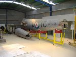 The fuselage of NZ2328 in her new home