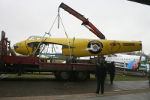 The fuselage of W4050 being unloaded at the main hangar