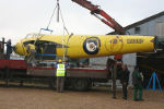 W4050's fuselage loaded ready for the journey to the main hangar